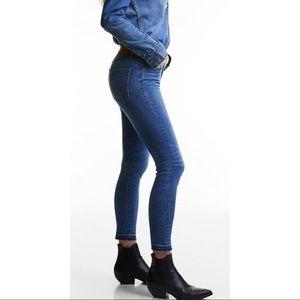 DENIM FORUM nico mid rise skinny crop jeans